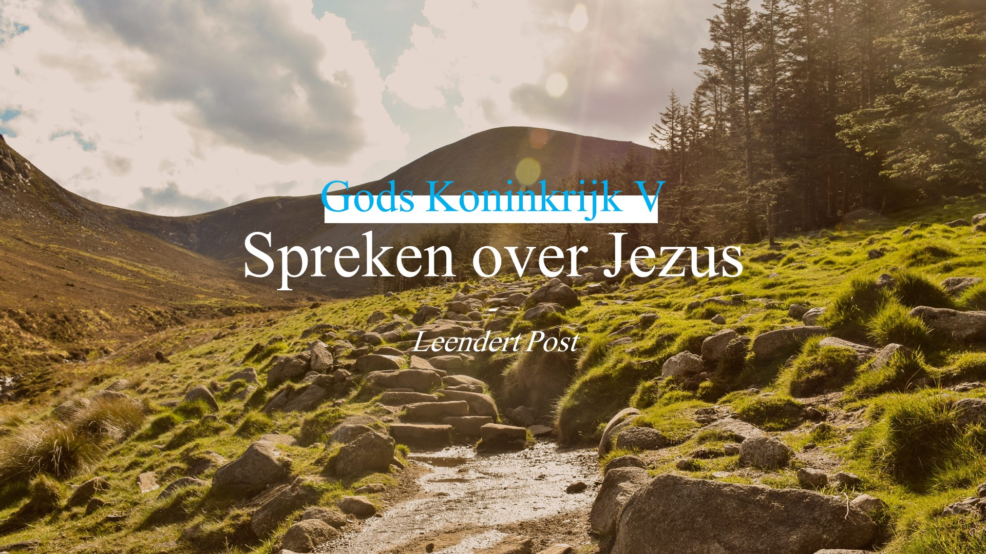 Spreken over Jezus
