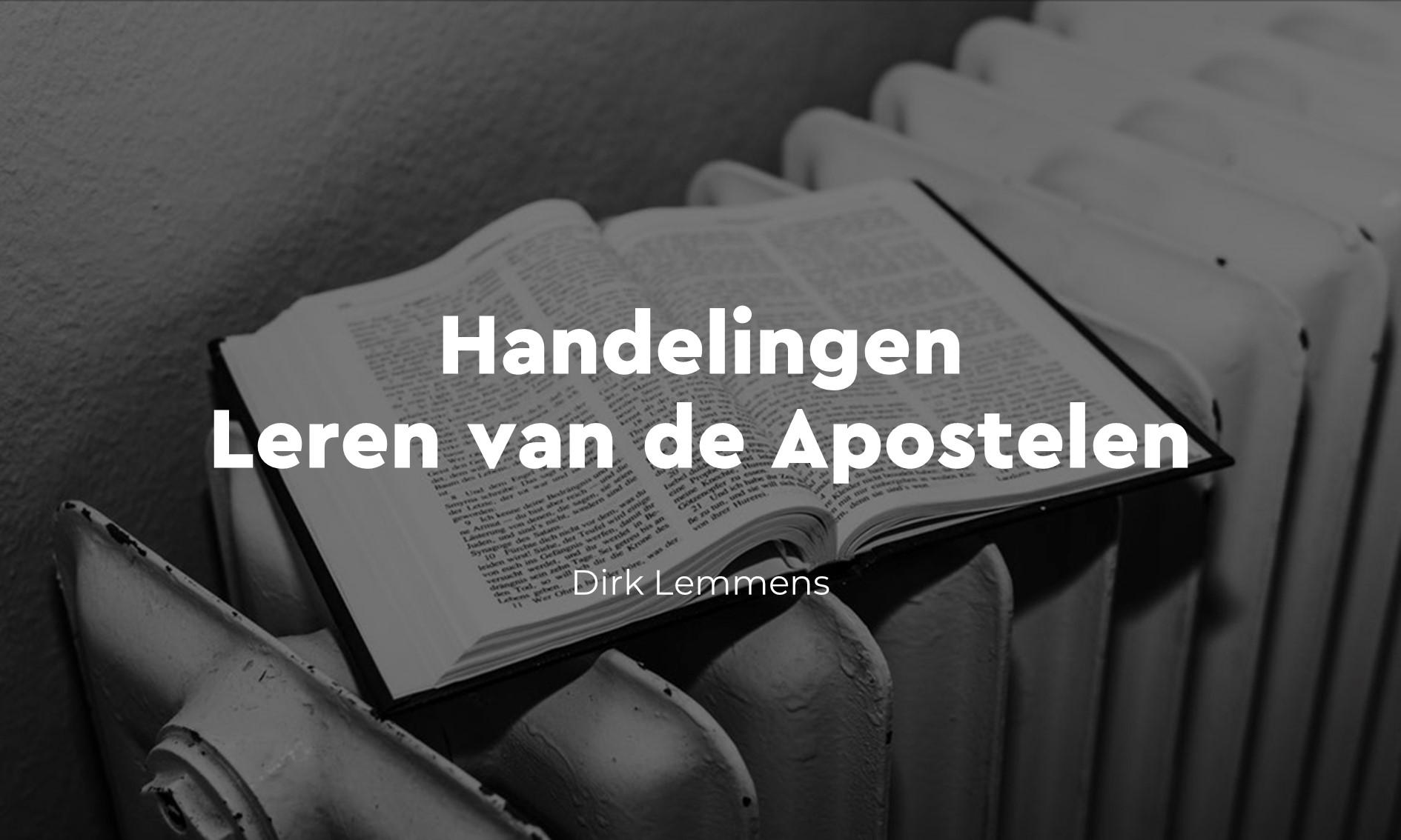 Handelingen van de Apostelen: voor nu